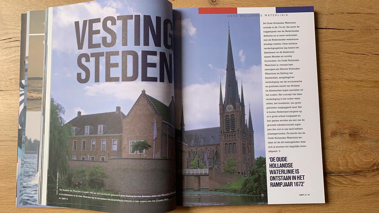 Oude Hollandse Waterlinie in het fraaie tijdschrift Sloep!